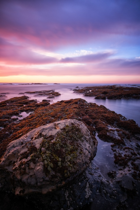 Sunset at Fitzgerald Marine Reserve with XE-1 and 14mm 2.8